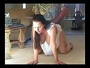 Big tits brunette fucking on the floor
