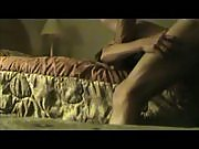 Horny couple bang at the edge of the bed
