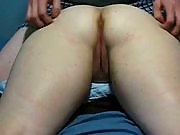 Lucky dude fingers a very tight pussy in a hot amateur vid