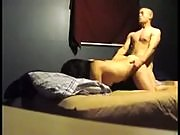 Horny brunette gets on all fours and gets fucked before spreading her legs and getting wild
