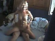Blonde goddess rides her man's cock before finishing the job with a blowjob