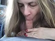 Here's one nasty blonde milf ready to give her man a great pov blowjob