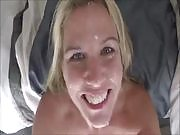 Horny Wife Getting Facial