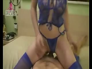 Blonde sucking cock then having ride to orgasm