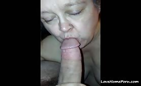 Mature Wife Blows Her Husband's Dick for 25 Years