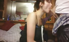 Slippery Deepthroat Blowjob and Cumshot