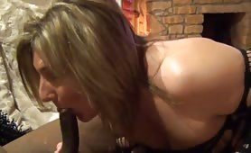 Sexy Mature Goes Down on Her Black Lover