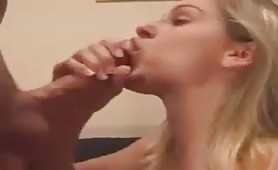 Sexy Blonde Does Ass to Mouth and Swallows