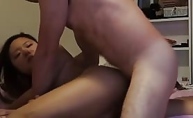 Bound Asian Chick Gets Plowed