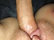 Filming creampie closeup