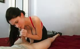 Slow Tantric Sex and a Booby Cumshot