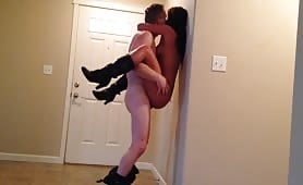 Hot and Horny Couple Fucking While Standing