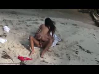 I caught my schoolmate fucking young chick on beach