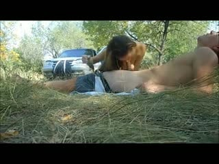 Public nature blowjob