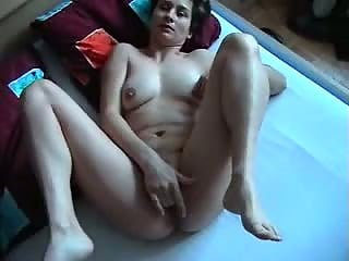 Brunette wife loves rubbing her pussy while fucking