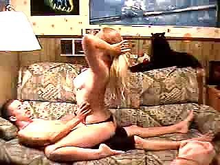 Blonde wife gets fucked by her lover