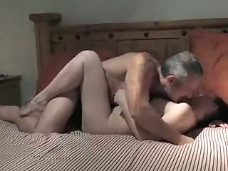 Man fucking his short haired wife