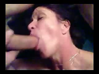 Wife is taking my cock deep in her neck