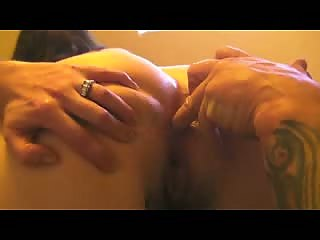 Trying fingers then my cock