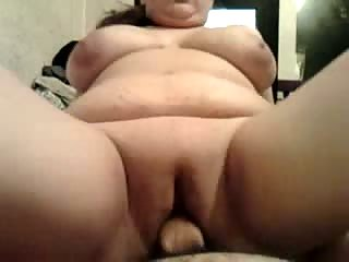 BBW wife riidng my cock