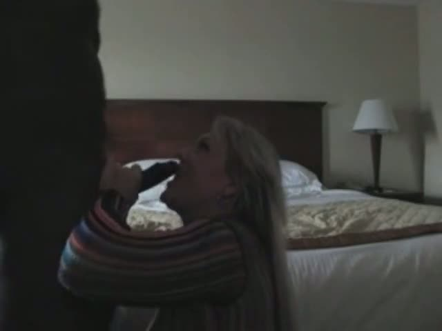 Black Boss Fucks Blonde Female Manager in Hotel