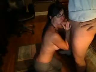 Wife sucking on her husbands cock