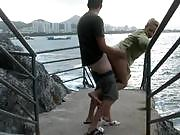 Blonde Takes a Look at the Sea With Cock in Her Cunt