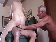 Old Cuckold Serves Pussy and Balls