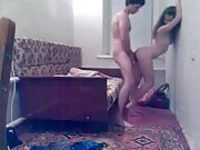 Flexible Girl Fucked by the Wall
