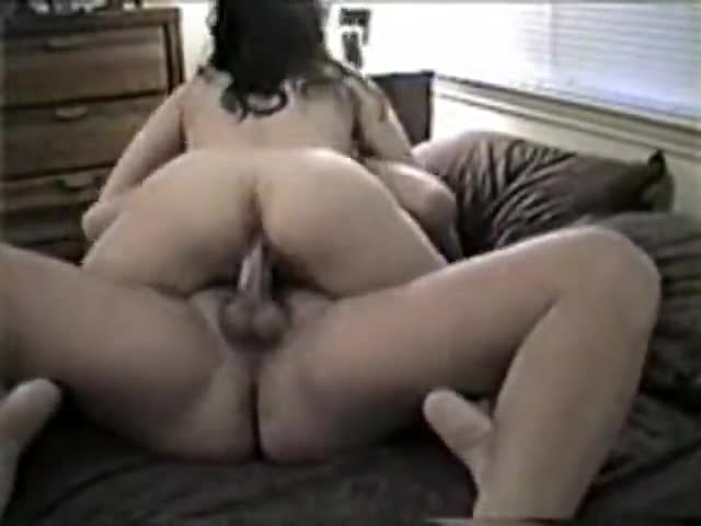 Nice wife riding on her husband