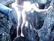 Mature Slut Banged in a Rocky Area