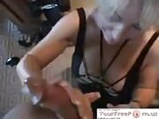 Blonde Giving a Blowjob at the Gym
