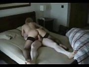 Wife having sex with her husband on bed