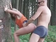 Real Amateur Couple Fucking in the Woods