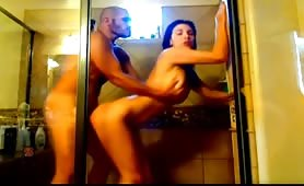 Hottie's Shower Dicking From Behind