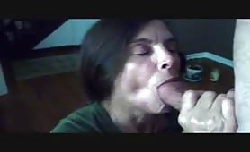 Mature Sucks on Cock After She Cums
