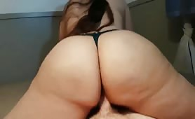 Big Ass Bounces on Cock Reverse Cowgirl