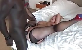 Blonde Slut Takes a BBC in Her Butt