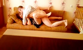 Mature Couple Fucking on the Couch