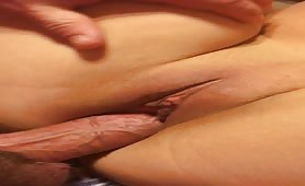 Shaven Pussy Filled With Hard Cock
