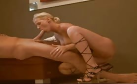 Blonde in Heels Eats Creamy Goo