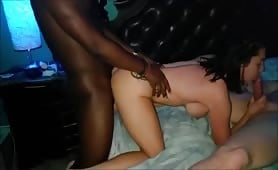 Brunette's Fun Time With Two Cocks