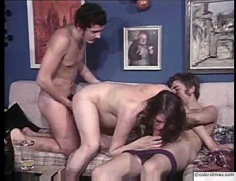 Pregnant girl gets fucked by two guys