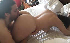 Guy Worships a Woman's Pussy and Ass Hole