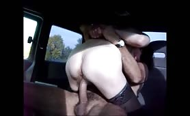 Chick Rides Dick in a Minivan