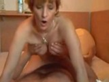 Blonde amateur wife riding on her husbands cock
