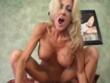 This blonde woman has piercing everywhere and she really knows how to ride a cock
