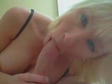 Blonde hot girl sucking her boyfriends cock everytime when she has a oportunity