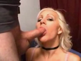 Blonde amateur hottie sucking best-friens cock and her tapes her