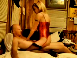 Great blonde cowgirl Amanda rding her boyfriends cock in front of camera